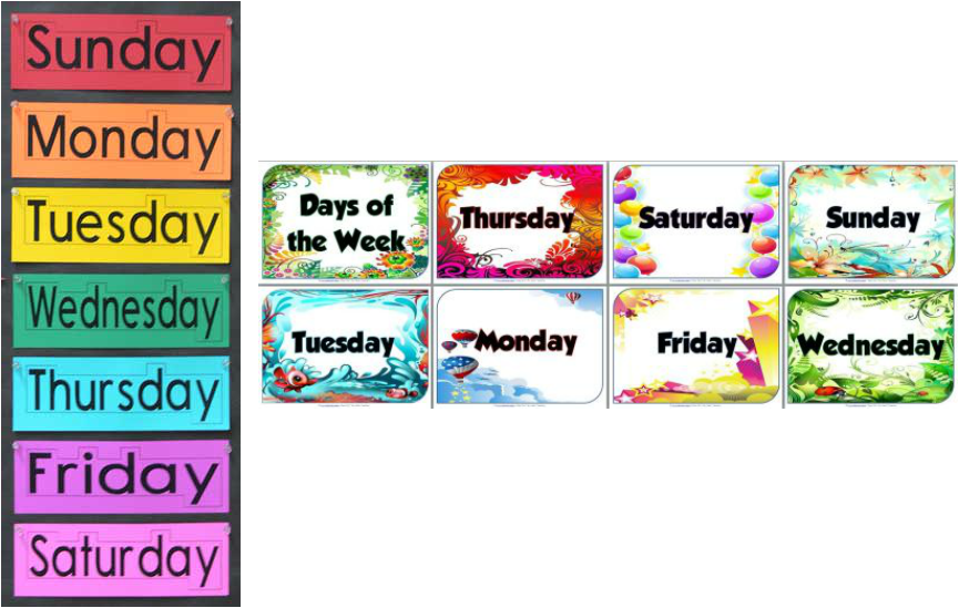 Days of the Week - Nuwarra